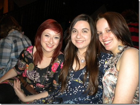 leaving drinks with caitlin and jo